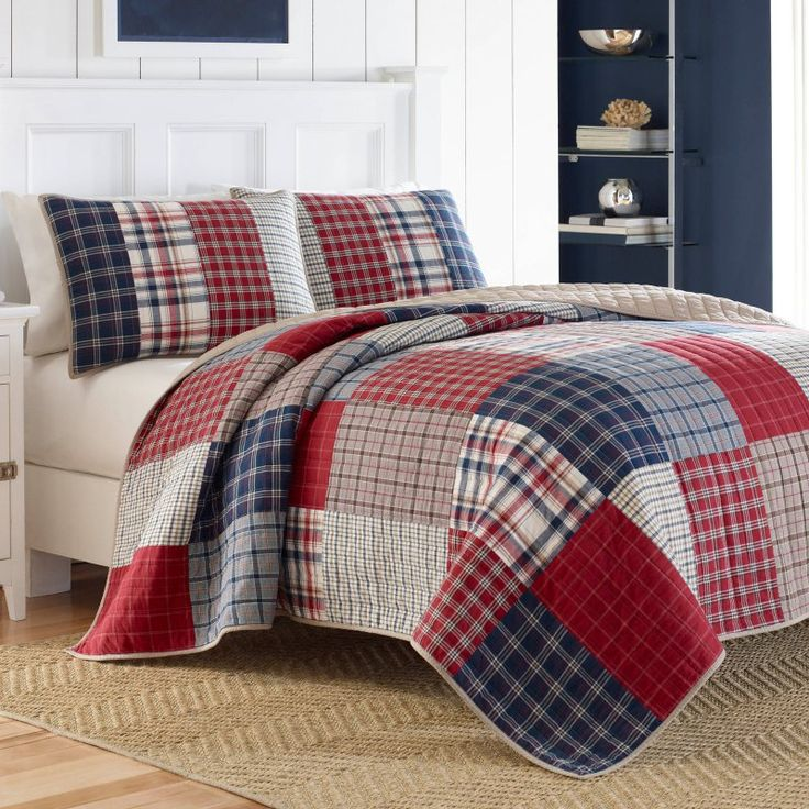 Ansell Pieced Cotton Quilt By Nautica 214403 Colchas