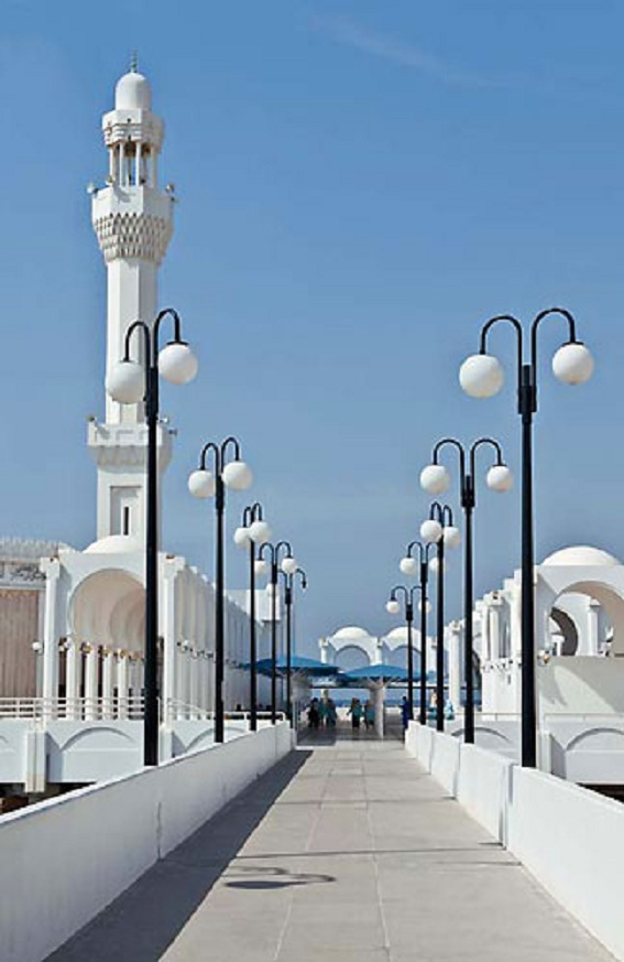 Saudi Arabia, Jeddah, mosque in the Corniche