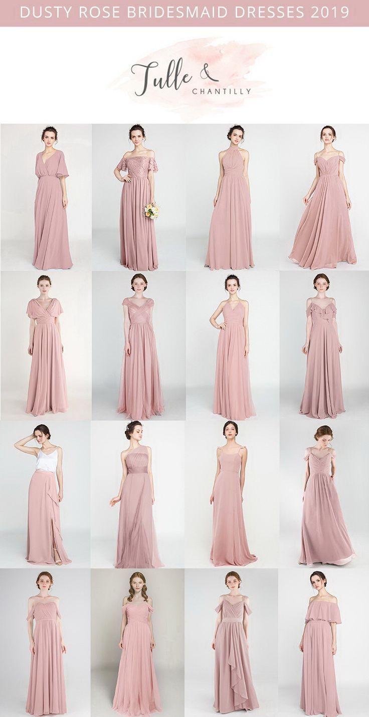 Dusty Rose Long Short Brautjungfernkleider 80 149 Grosse 2 30 Und 50 Far Em 2020 Vestido Madrinha Casamento Vestido Madrinha Casamento Dia Modelo Vestido Longo