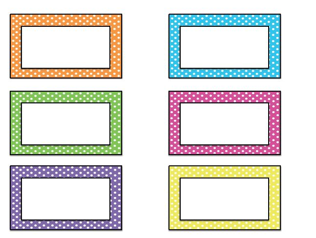 free name tag templates kindergarten | Come back tomorrow for name tags that will make it through the first ...
