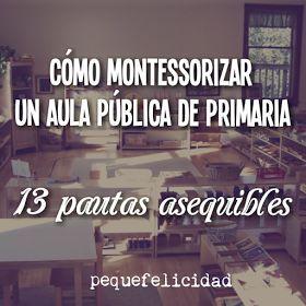 Montessori - 13 pautas