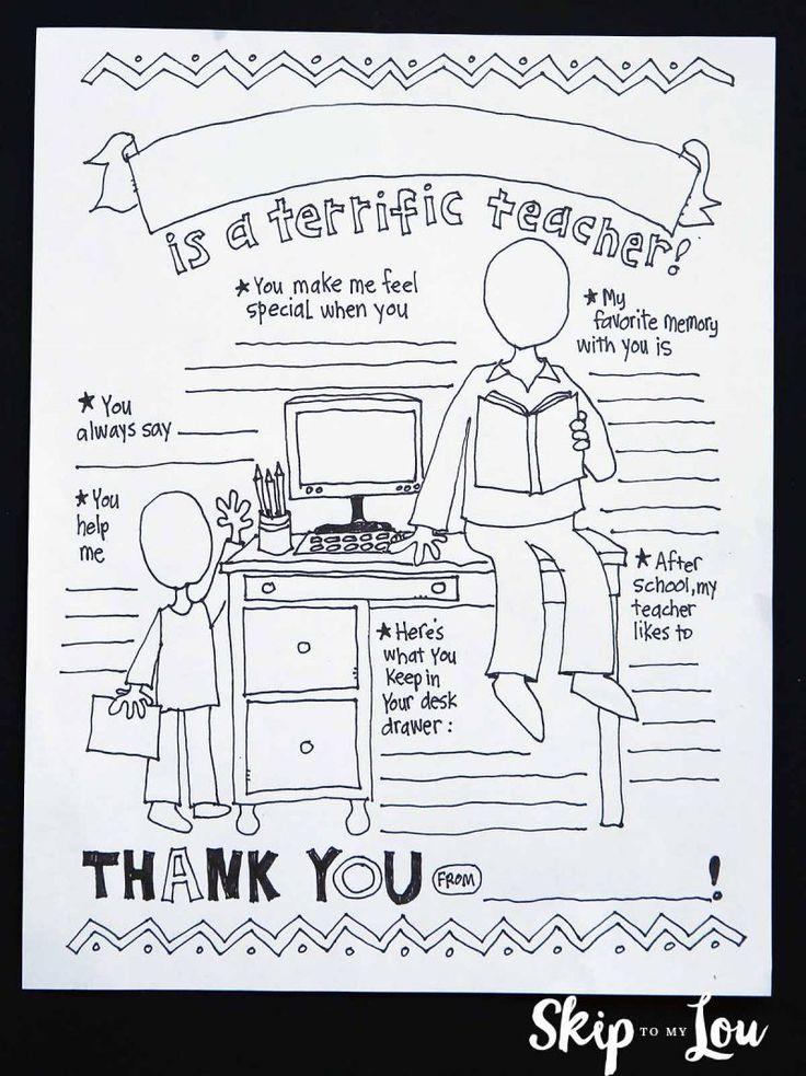 145 best Teacher Appreciation images on Pinterest Teacher - copy happy birthday coloring pages for teachers