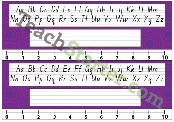 Lower Grade Desk Plate - Swirls - Purple | Teach Starter - Teaching Resources