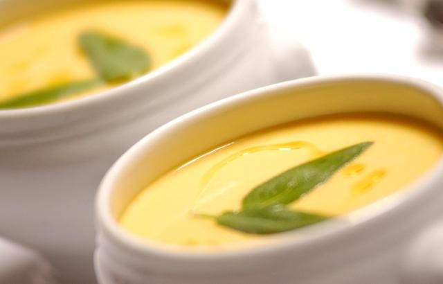 Cream of pumpkin and sage soup. Makes a brilliant light dinner on those cold winter evenings....