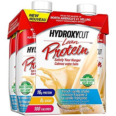 Hydroxycut Lean Protein Shakes, Weight Management, Ready to Drink, Vanilla, 4 Pack: Amazon.ca: Health & Personal Care