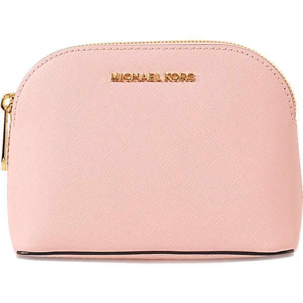 Michael Michael Kors Cindy Travel Pouch found on Polyvore featuring beauty products, beauty accessories, bags & cases, pink and michael michael kors