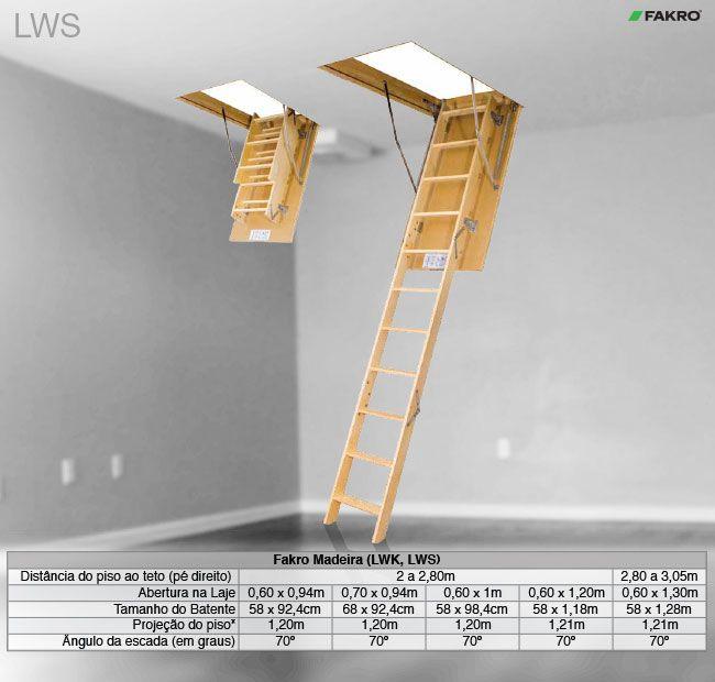 Escada de sótão madeira Fakro - LWS