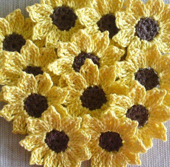 Crochet Sunflowers