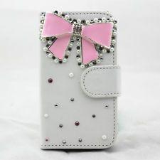 Μαργαριτάρι bowknot PU δερμάτινη θήκη πορτοφόλι για Samsung Galaxy Trend Plus S7580 S7582
