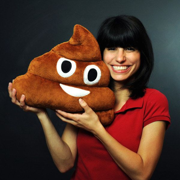I can not believe that this exists!!!! It's pillow of the poop emoji... and I don't know what to think about it...