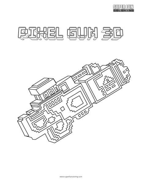 pixel gun 3d coloring pages Pixel Gun 3D Coloring Page | Super Fun Coloring Pages | Pinterest  pixel gun 3d coloring pages