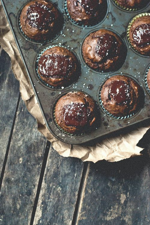 ... whole wheat double chocolate avocado muffins ...