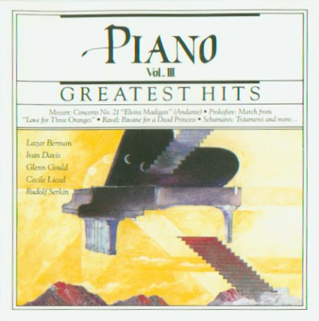 1990 Piano Greatest Hits Vol.III (CBS Masterworks) [CBS MLK45629 / 074644562927] cover illustration by Michael Ng #albumcover