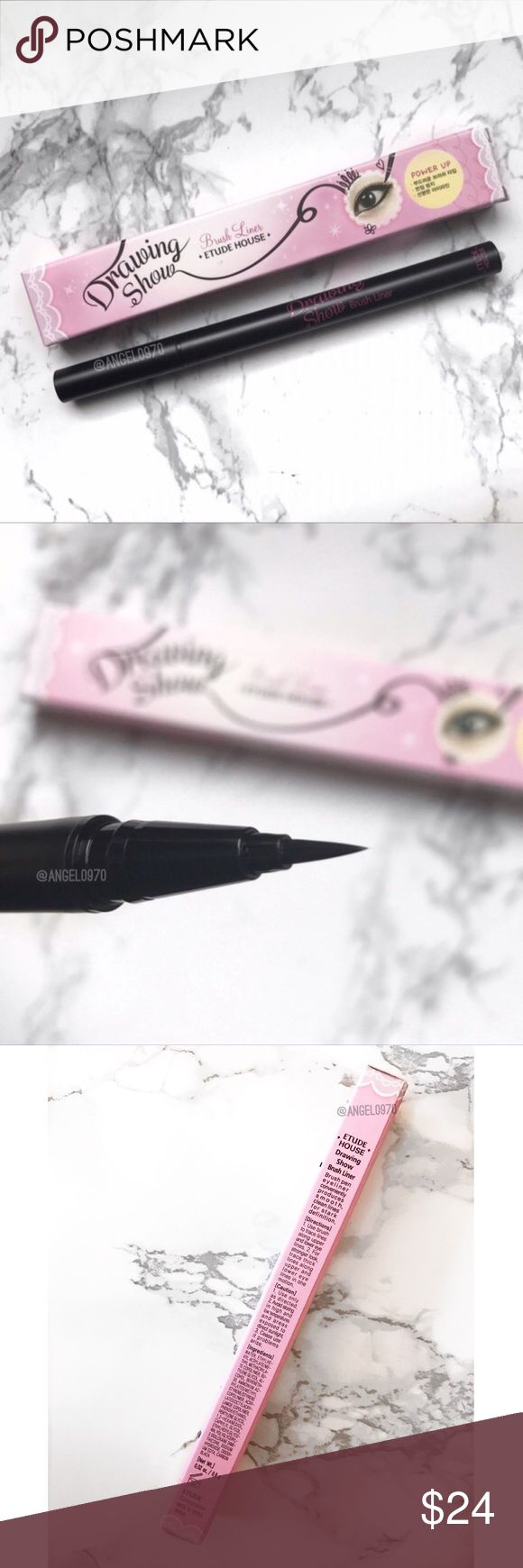 || Etude House Felt Tip Black Liquid Liner A brand new felt tip liquid liner from popular Korean Makeup brand Etude House.   Color: Black  No TradesPlease No Lowballing  I do not negotiate pricing in the comments. Please submit a reasonable offer by the offer button. Thank you  Etude House Makeup Eyeliner