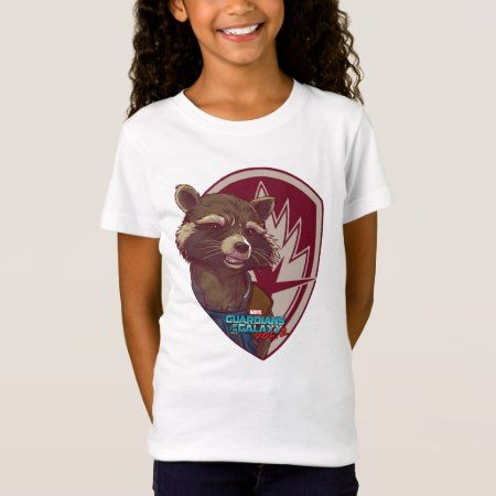 Guardians of the Galaxy Vol. 2   Rocket Badge T-Shirt - click/tap to personalize and buy