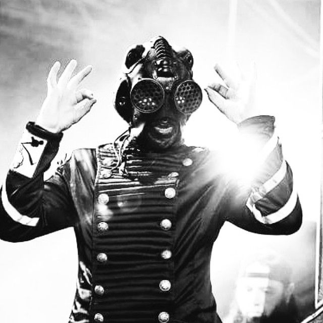 Sid Wilson in our mask.  #bobbasset #sidwilson #slipknot #art #leather #leatherwork #sidwilsonmask