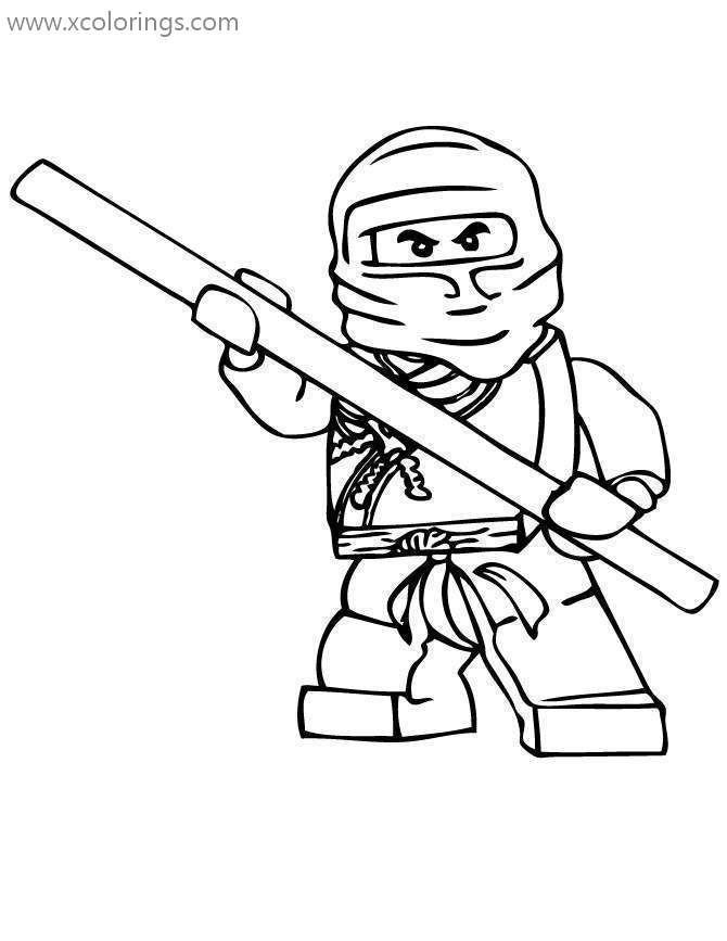 Lego Ninjago Coloring Pages Cole The Earth Ninja Ausmalen Ausmalbilder Ninjago Cole
