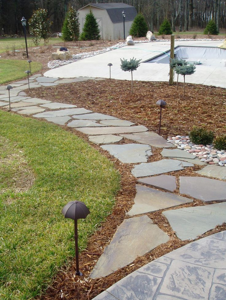 slate walkways landscape designbuild slate walkway installed by slc by