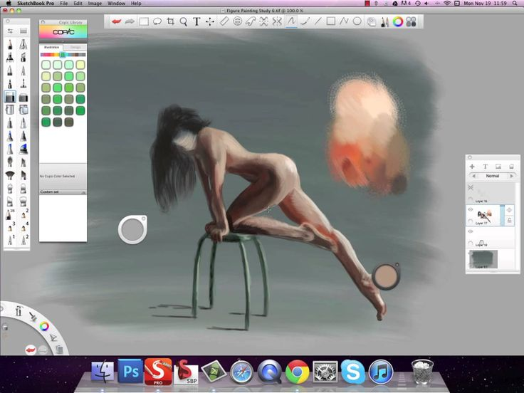 Figure Painting Study in Sketchbook Pro 6