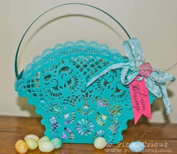 Easter Basket- cut with Silhouette Cameo