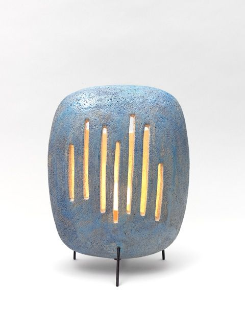 André Aleth Masson; Glazed Ceramic Table Lamp, 1962.
