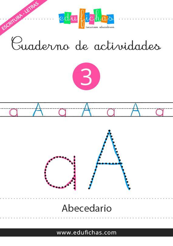 Cuaderno del abecedario. Descarga cuadernos en PDF con actividades para niños:  http://www.edufichas.com/cuadernos-actividades/  #infantil #kids #pdf #abecedario