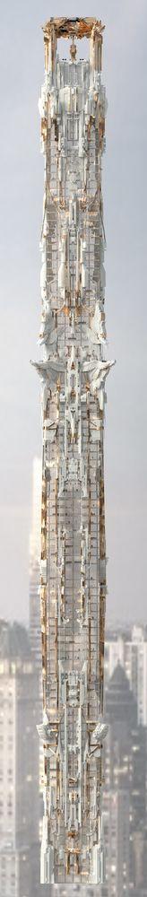 Galeria - Arranha-céu de Mark Foster Gage leva a arquitetura gótica a um outro nível - 9