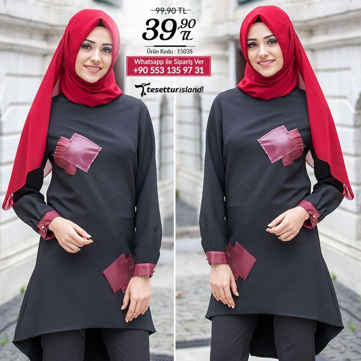 Nayla Collection - Deri Detaylı Siyah Tunik #tesettur #tesetturabiye #tesetturgiyim #tesetturelbise #tesetturabiyeelbise #kapalıgiyim #kapalıabiyemodelleri #şıktesetturabiyeelbise #kışlıkgiyim #tunik #tesetturtunik