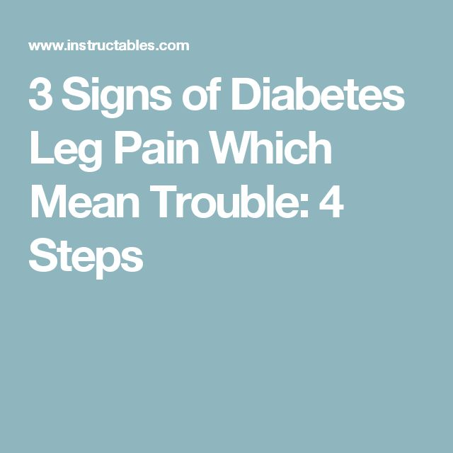 How to Treat Diabetes Leg Pain and Cramps - afdiabetics.com