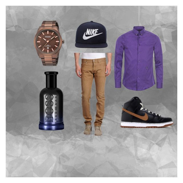 """""""men"""" by corien-1 ❤ liked on Polyvore featuring Versace, M.GRIFONI DENIM, NIKE, BOSS Hugo Boss, mens, men, men's wear, mens wear, male and mens clothing"""