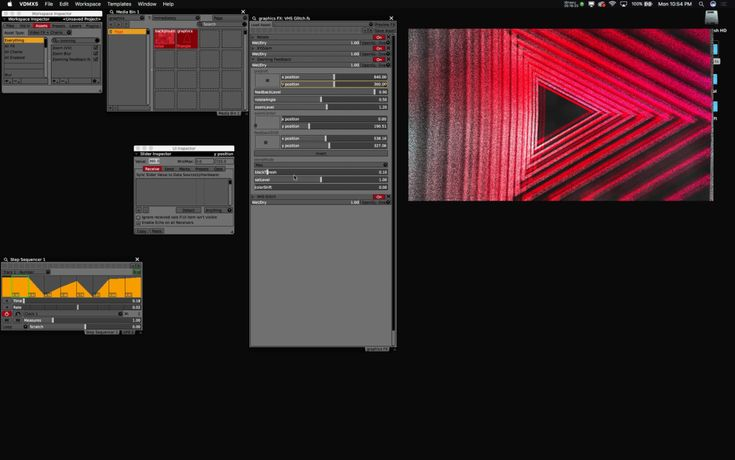 Retro horror Stranger Things visual effects with VDMX