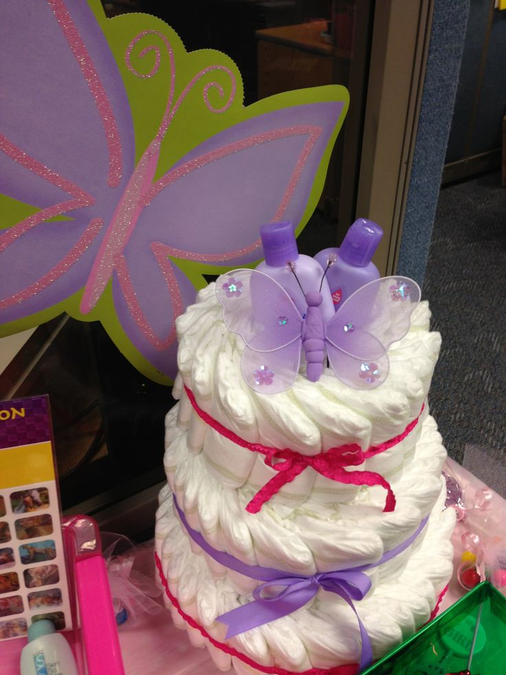 Diaper Cake For Work Baby Shower