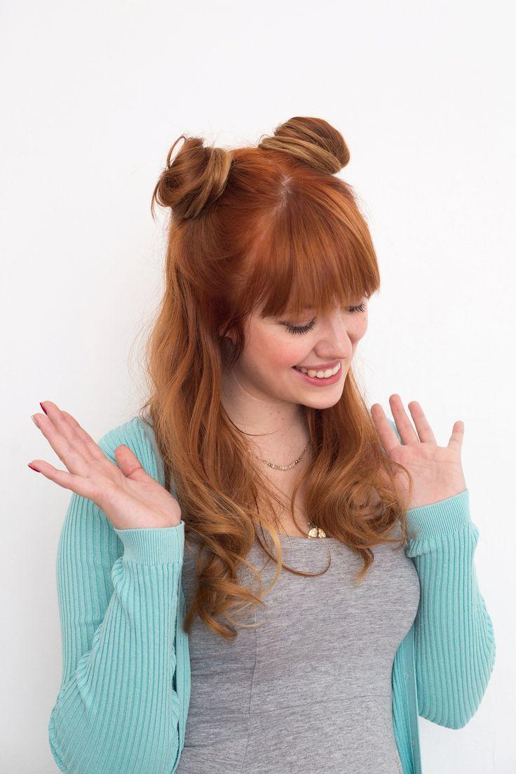Achieve Princess Leia's iconic double bun hairstyle with this easy hair tutorial.