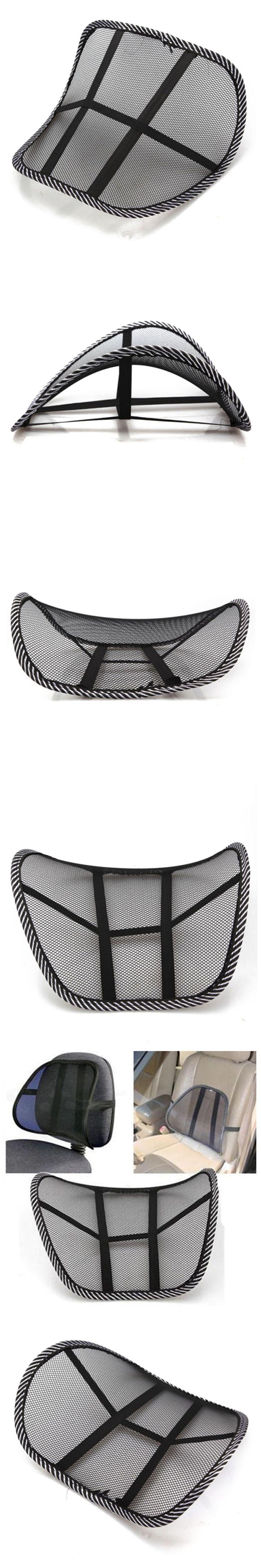 New Mesh Lumbar Back Brace Support Chair Cushion Seat Waist Pillow Posture Corrector