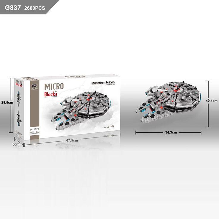 GEM Micor Blocks Star wars Millennium Falcon G837