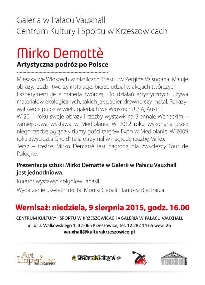 Mirko Dematte - Vauxall w Pałacu w Krzeszowicach