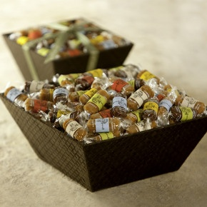 """Good Karmal is my candy of choice when I want to say """"Thank you"""" in a sweet way. Delicious gourmet caramels with sayings on the wrappers. www.goodkarmal.com"""