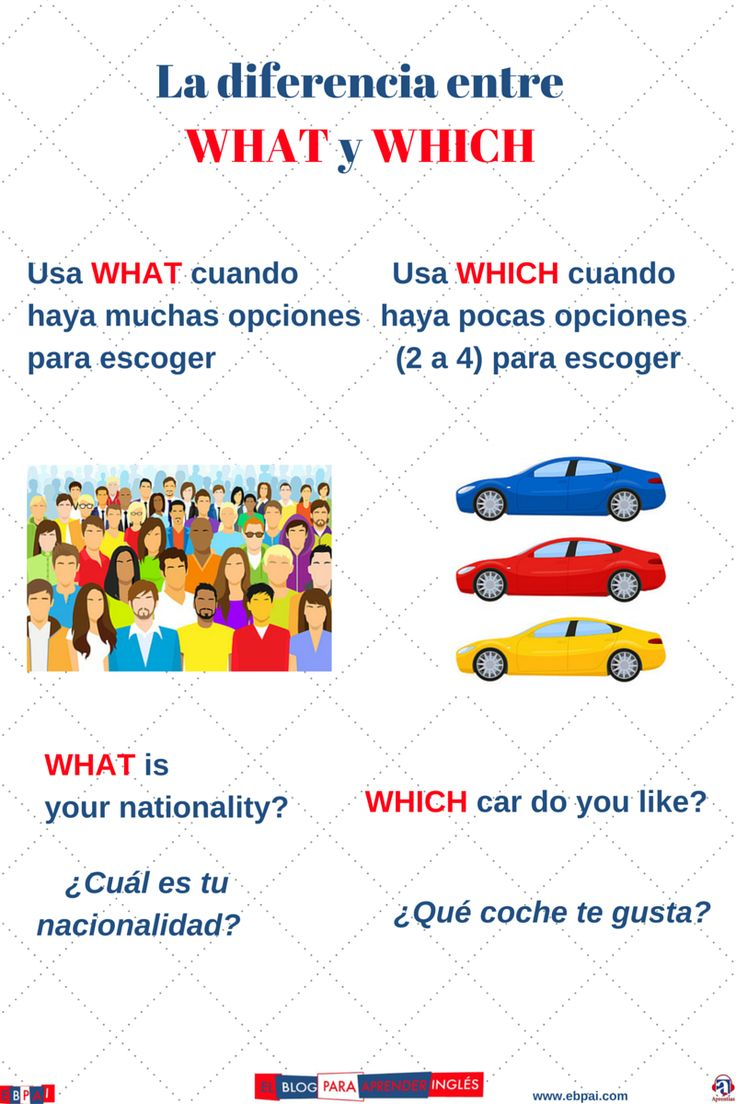 El blog para aprender inglés: What - Which (diferencias)