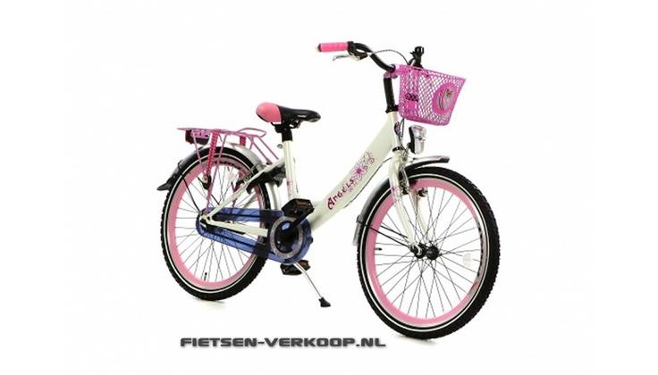 Meisjesfiets Angel Wit 22 Inch | bestel gemakkelijk online op Fietsen-verkoop.nl