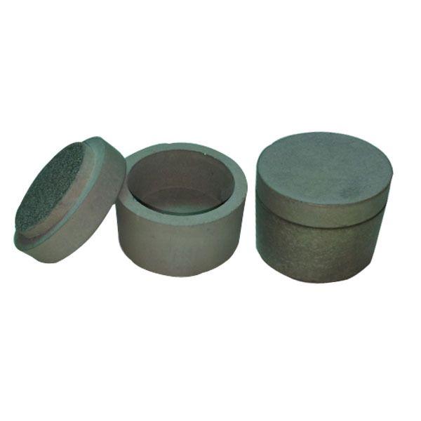 Mini Concrete spice jar with gray lid