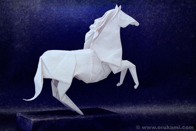 Roman Diaz Origami Horse by Himanshu (Mumbai, India), via Flickr