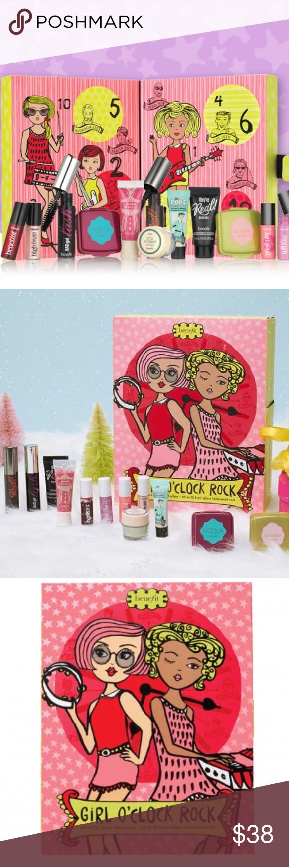 🎉Wknd Sale! NIB-Benefit Girl O'Clock Gift Set 🚫No trade 👍🏼Reasonable offers accepted   Each of the kit's doors open to reveal one of Benefit's bestsellers. See photo for full listing of products and their size. Valued at $86 Items are authentic, brand new and sealed in box. Photos of opened box w/ items are stock images to show products. Sephora Makeup