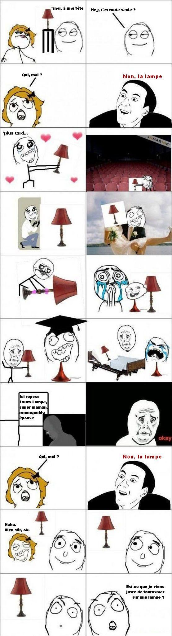 Se marier avec une lampe