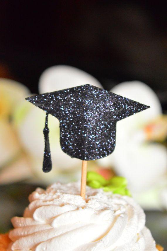 Afstuderen Party Decorations afstuderen Cupcake door HappyPartyDecor