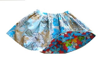Sewing Patterns for Girls Dresses and Skirts: How to Sew a Reversible Skirt, Free Skirt Sewing Pattern