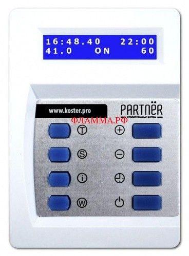 Пульт управления ТЭН котла Partnёr на печном складе ФЛАММА      Пульт управления ТЭН котла PARTNЁR         ОЧЕВИДНЫЕ ПРЕИМУЩЕСТВА           Управление:   - временем включения и отключения ТЭН   - включением ТЭН при понижении температуры теплоносителя   - отключением ТЭН при превышении температуры теплоносителя   Настройка:   -температуры теплоносителя   - времени включения/отключения ТЭН   - реального времени и даты   Статистика:   - суммарное время работы ТЭН   - суммарное…