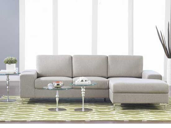 Low profile, metal legs, modern lines at a very very good price. Our customers love this sofa with chaise-the Oregon.