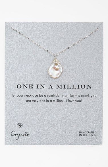 Dogeared 'One in a Million' Boxed Keshi Pearl Necklace