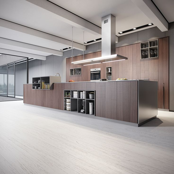 contemporary kitchen interior on Behance
