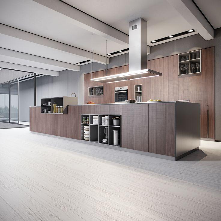 contemporary kitchen interior on Behance